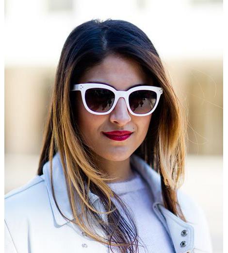 Beyaz Çerçeveli Güneş Gözlükleri