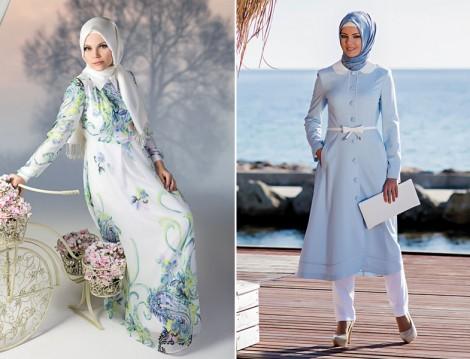 2014 Yaz Tatili Tesettür Giyim Modelleri
