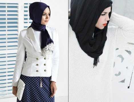 Beyaz Renkli Tesettür Modelleri