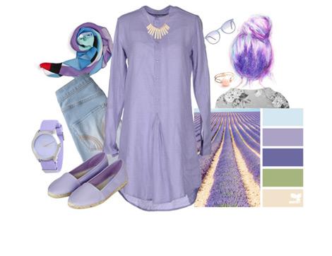 Lila Renkli Kıyafetleri Kombinlemenin Püf Noktaları