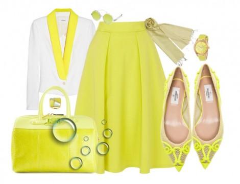 Sarı Renkli Tesettür Kombinleri