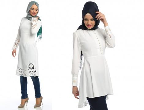 Beyaz Tunik Modeleri