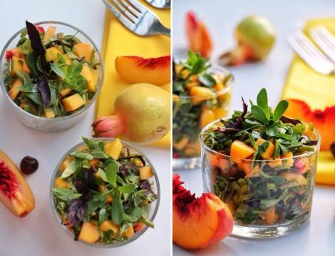 Farklı Salata Tarifleri Semizotlu Şeftalili Salata