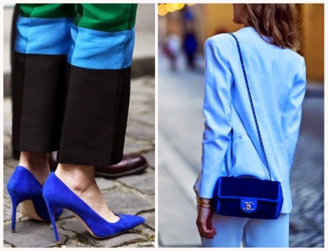 Mavi Çanta ve Ayakkabı Modelleri