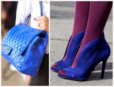 Mavi Ayakkabı ve Çanta Modeli