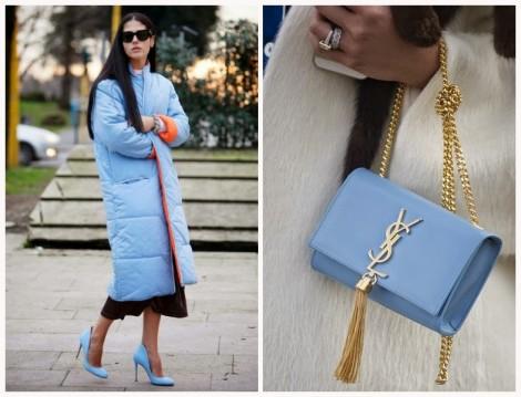 Mavi Renkli Ayakkabı ve Çanta Modelleri