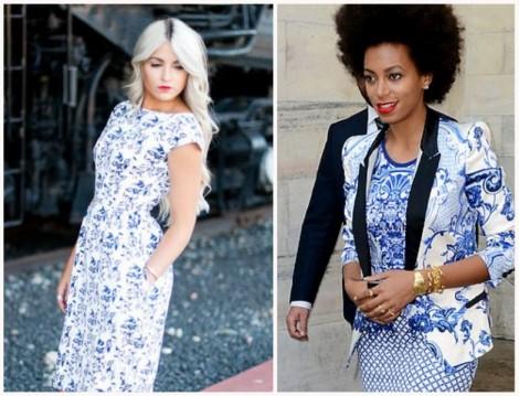 Porselen Desenli Ceket ve Elbise Modelleri