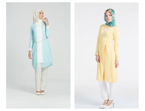Soft Renklerde Tunik Modelleri