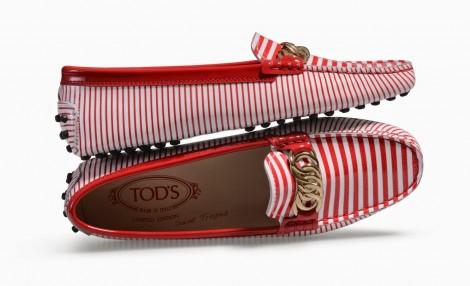 Tod's Gommino Çizgili Ayakkabı Modeli
