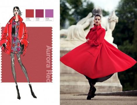 2014-2015 Sonbahar Kış Renk Trendi Aurora Kırmızısı