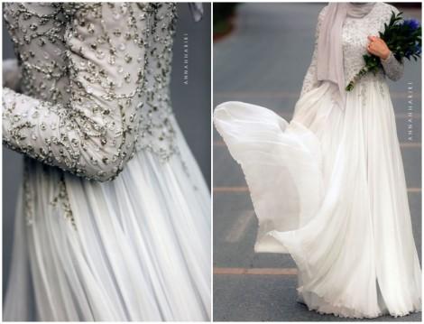 Annah Hariri 2015 Beyaz Abiye Elbise Modeli