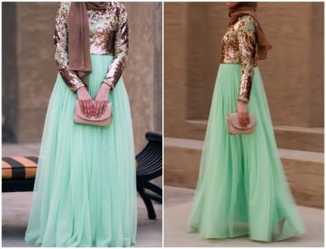 Annah Hariri 2015 Payetli Abiye Elbise Modeli