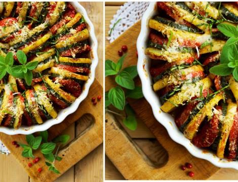 Fırında Patates Patlıcan Dizme