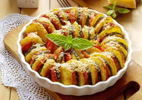 Fırında Patates Patlıcan Dizme Tarifi