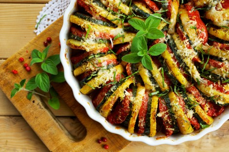 Fırında Patates Patlıcan Dizme Tarifi (2)