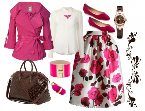 Pembe Renkli Tesettür Giyim Kombini
