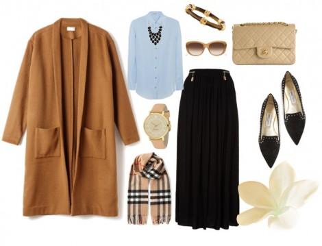 Sonbahara Uygun Tesettür Giyim Kombin Önerileri