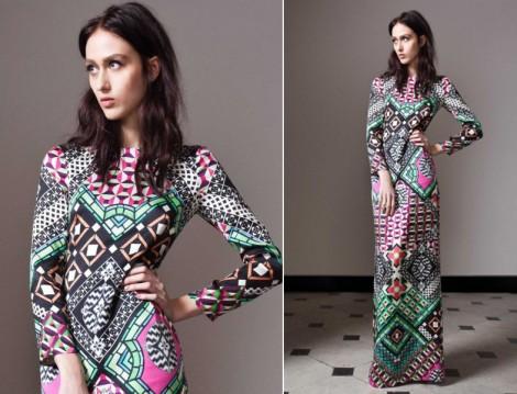 2015 Desenli Uzun Elbise Modelleri