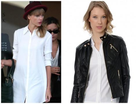Deri Ceketlerle Beyaz Gömlek Kombini