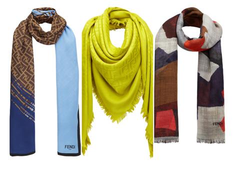 Fendi 2014-2015 Sonbahar Kış Eşarp Koleksiyonu