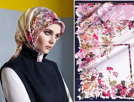 Floral Desen Eşarp Modelleri