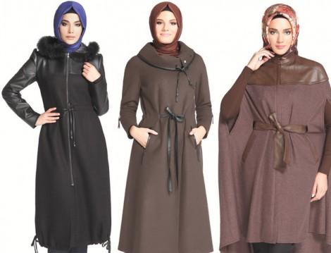 Kışlık Tesettür Giyim Zühre Pardesü