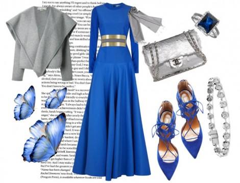 Kobalt Mavi Renkli Elbise Kombinleri