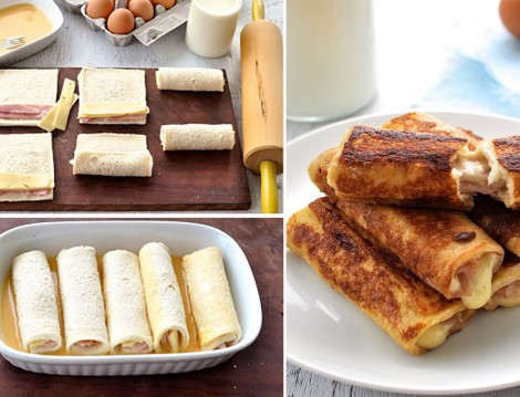 Peynirli Tost Ekmek Ruloları