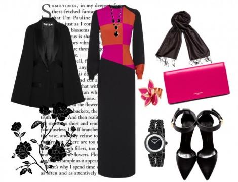 Siyah Uzun Elbise Kombinleri