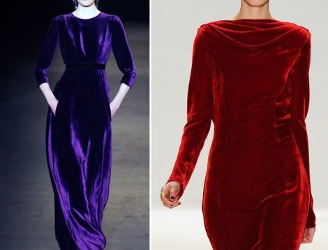 2015 Kadife Elbise Modelleri