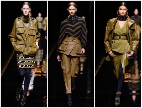 Balmain 2014-2015 Sonbahar Kış Yeşil Renk Giyim Modelleri