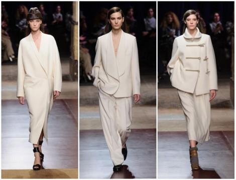 Hermes 2014-2015 Sonbahar Kış Kırık Beyaz Renk Giyim Modelleri