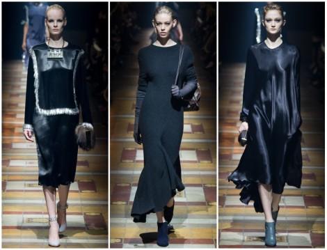 Lanvin 2014-2015 Sonbahar Kış Siyah Renk Giyim Modelleri