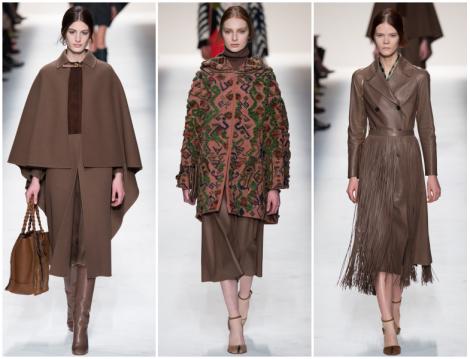 Valentino 2014-2015 Sonbahar Kış Kahverengi Giyim Modelleri