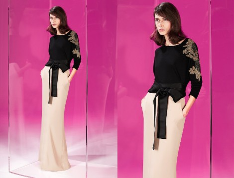 2015 Tesettür Abiye Elbise Kombinleri