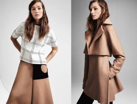 Krem Rengi Kaban ve Palto Modelii