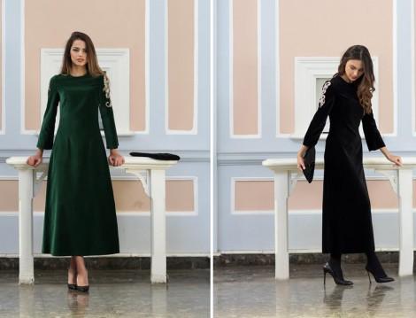 Kuaybe Gider Kadife Elbise Modelleri