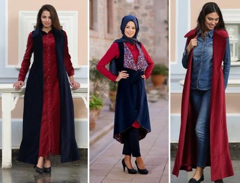 Kuaybe Gider-Kadife Uzun Yelek Modelleri