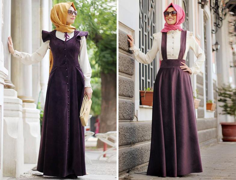 32230ef7b2a2b Modanisa Gamze Polat Kadife Elbise Modelleri | Resimlerle Tesettür ...