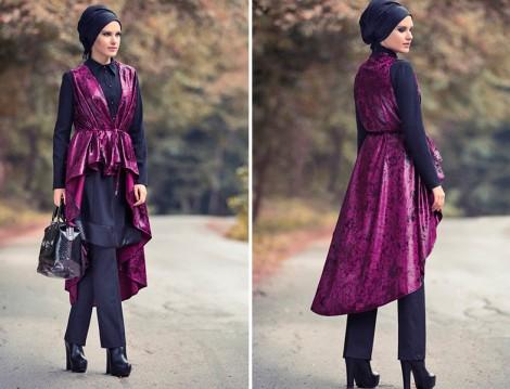 Modanisa Mustafa Dikmen Kadife Yelek Modelleri