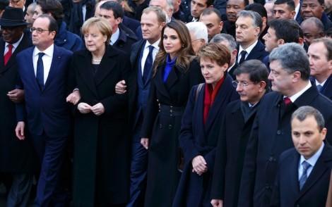 Dünya Liderlerinin Protesto Yürüyüşü