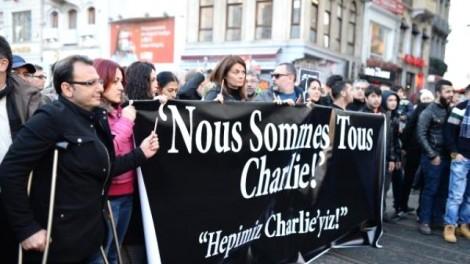 Fransa Terör Saldırısı Protesto Yürüyüşü
