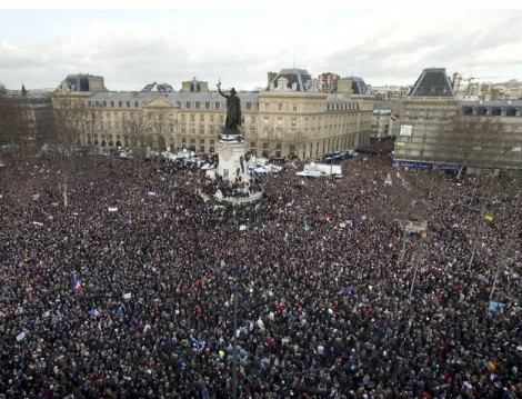 Fransa Terörizme Protesto Yürüyüşü
