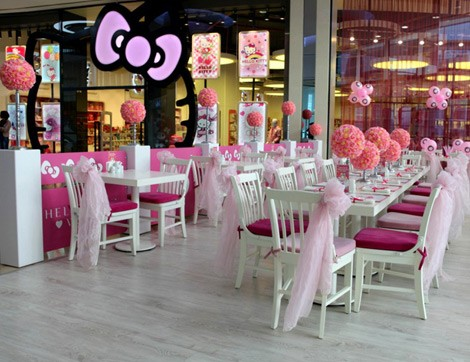 Şeker Pembesi Bir Dünya: Hello Kitty World Cafe & Restaurant