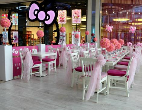 Şeker Pembesi Bir Dünya: Hello Kitty World Cafe & Restaurant