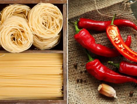 Kırmızı Biber ve Spagetti