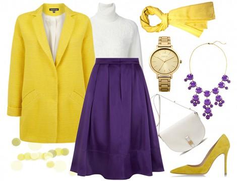 Zıt Renklerle Tesettür Giyim Kombinleri
