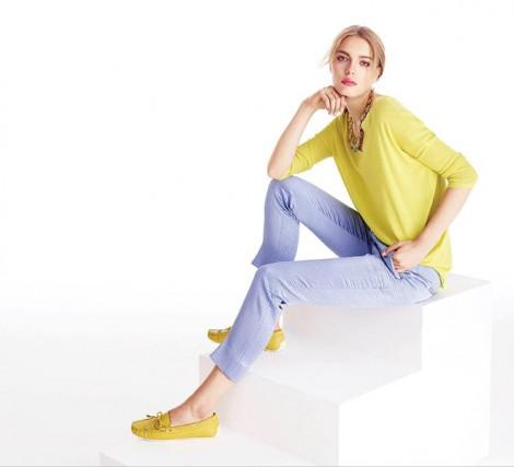 İpekyol 2015 Sarı Triko ve Ayakkabı Modeli