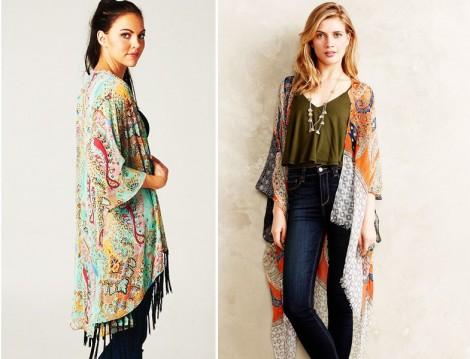 Kimono Modelleriyle Bahar Kombini