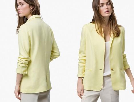 Massimo Dutti 2015 Sarı Ceket Modeli